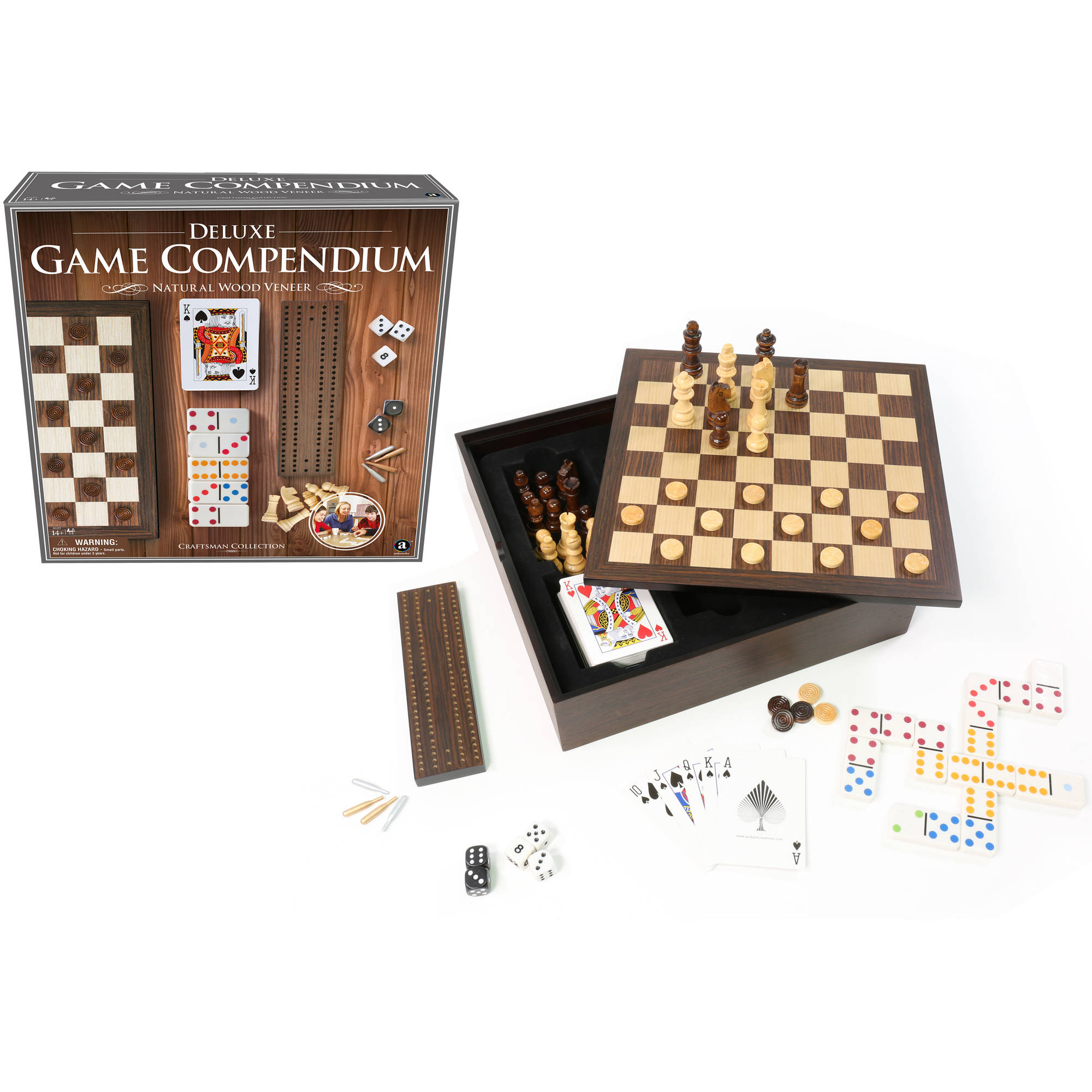 Craftsman Natural Wood Veneer Deluxe Games Compendium