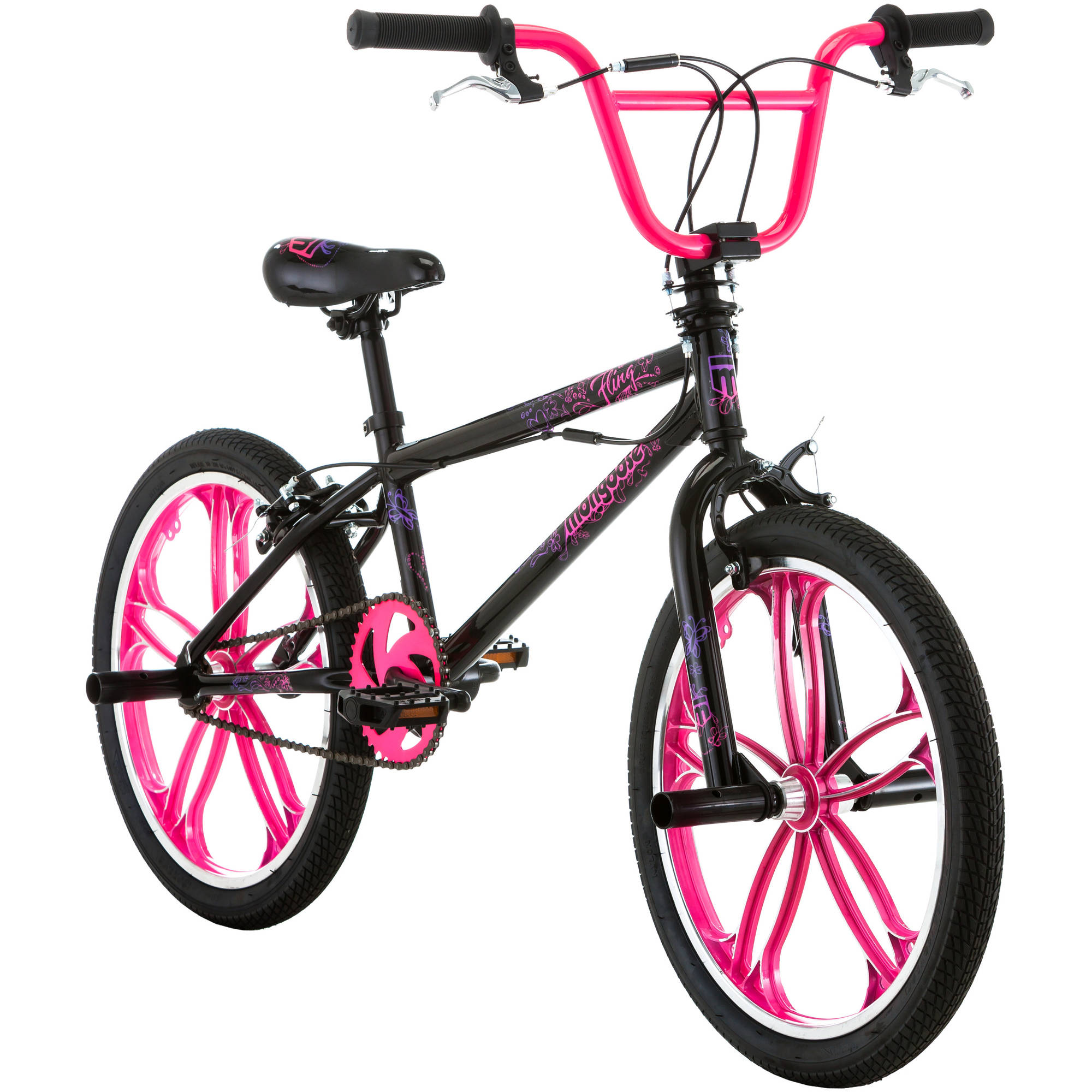 "20"" Mongoose Fling Mag Girls' Freestyle Bike"