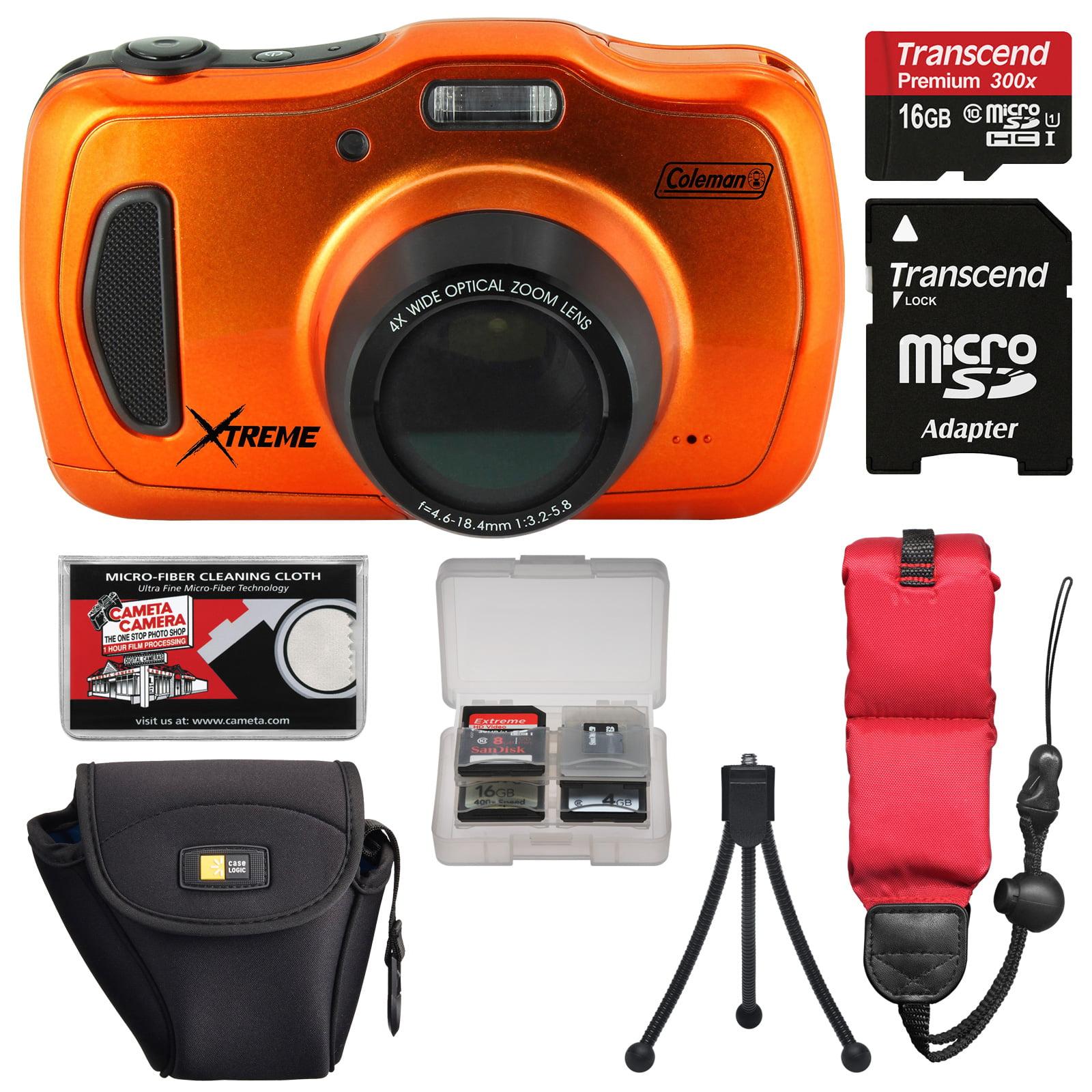 Coleman Xtreme4 C30WPZ Waterproof HD Digital Camera (Oran...