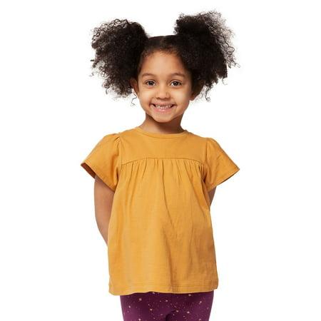 Little Girl's Puffed-Sleeve Cotton Top