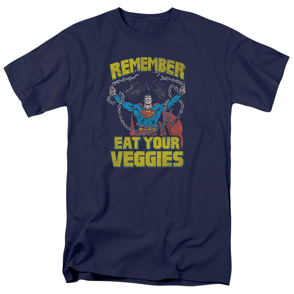 Superman Veggie Power Mens Short Sleeve Shirt