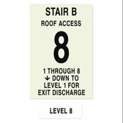 INTERSIGN NFPA-PVC1812(B1A8) NFPASgn,Stair Id B,Floors Served 1 to 8 G0263588