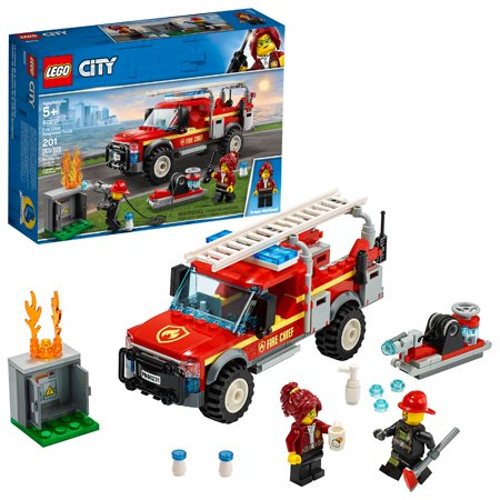 LEGO City Fire Chief Response Truck Building Set with Toy Firetruck and Ladder 60231