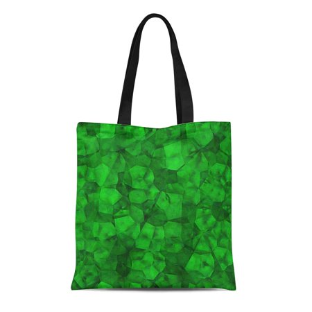Glamour Glasses (ASHLEIGH Canvas Tote Bag Green Bright Rough Emerald Crystal Gem Glamour Glass Jewel Durable Reusable Shopping Shoulder Grocery Bag)
