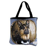 "German Shepherd Dog Shopping Tote Bag 17"" x 17"""