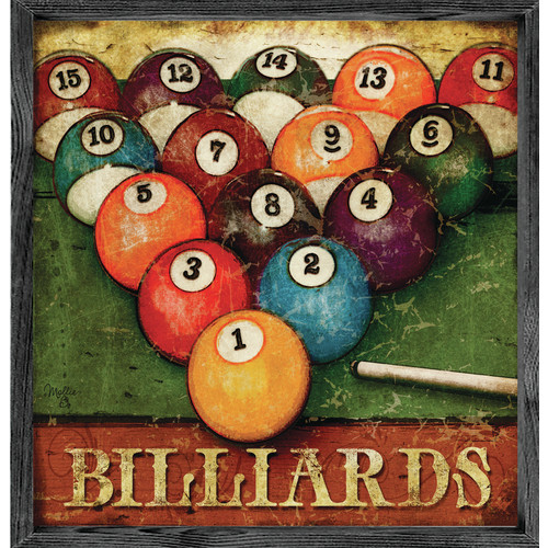 Forest Creations Magnet Print Billiards Framed Graphic Art