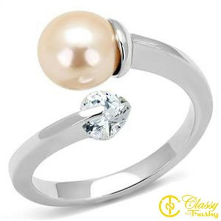 Classy Not Trashy® Light Peach Faux Pearl Arrow Women