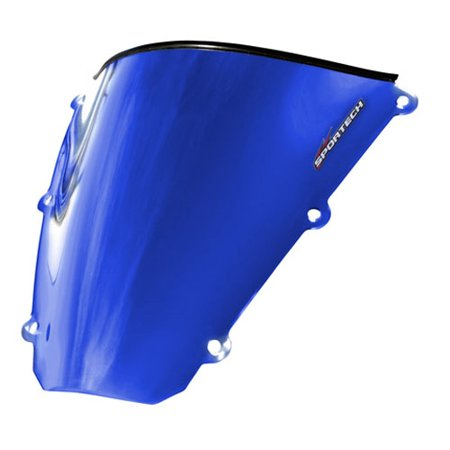 Classic Chrome Windscreen (Sportech - 45491096 - Classic Chrome Windscreen, Blue)