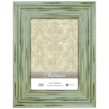Chateau 4 x 6 Distressed Sea Green Picture Frame