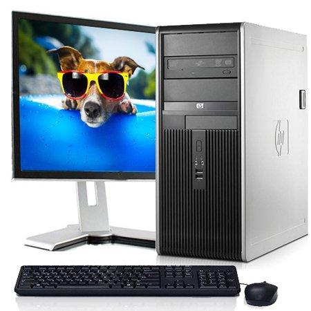 Refurbished Desktop Computers HP Tower PC Bundle Windows 10 Intel 2.13GHz Processor 4GB Ram 250GB Hard Drive DVD Wifi with a 17