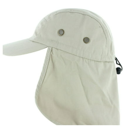 Magg Mens Fishing Boating Hiking Army Military Snap Brim Ear Neck Cover Sun Flap Cap