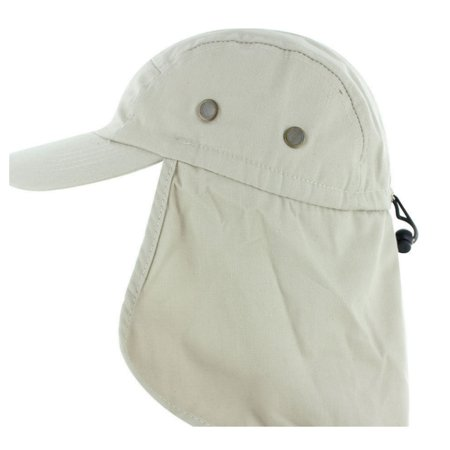Enzyme Frayed Army Caps - Magg Mens Fishing Boating Hiking Army Military Snap Brim Ear Neck Cover Sun Flap Cap