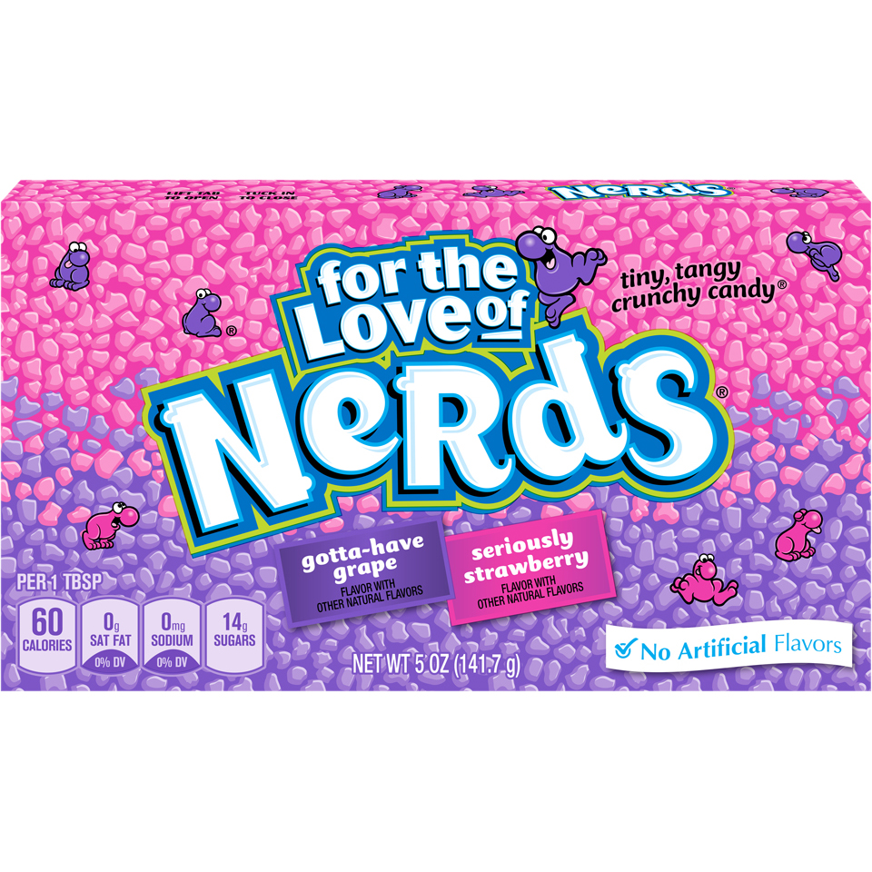 Nerds Grape and Strawberry Candy, 5 Oz., 12 Count