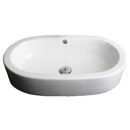 Recessed Wall Sink : ... Imaginations Wall Mount Semi Recessed Oval Vessel Sink with Overflow