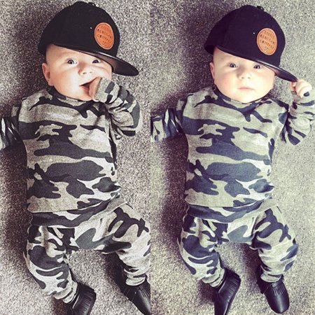 2pcs Newborn Infant Toddler Kids Baby Boy Clothes T-shirt Tops+Pants Outfits Set thumbnail