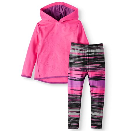 Cheetah Girls Halloween Outfits (Cheetah Star Print Performance Fleece Hoodie & Leggings, 2pc Active Set (Toddler)