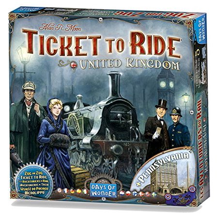 Ticket To Ride App Halloween (Ticket to Ride: United Kingdom Map Col 5 Strategy Board)