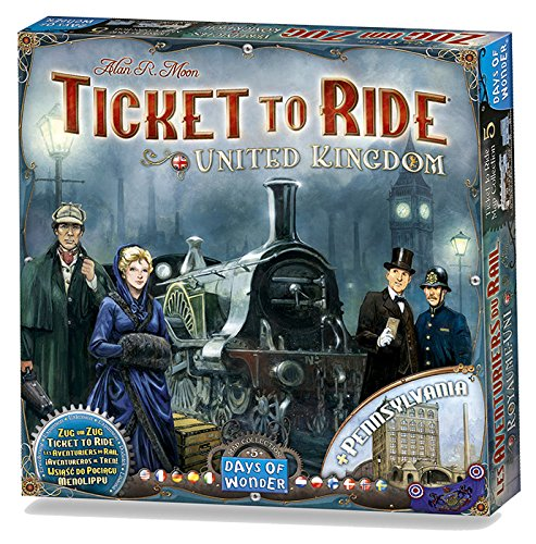Ticket to Ride: United Kingdom Map Col 5 Strategy Board Game