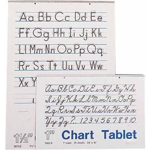 "School Smart Chart Tablet, 16"" x 24"", 25 Sheets, 1 in Ruled"