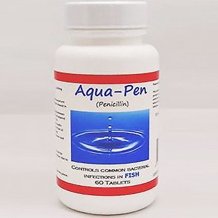 Aqua pen fish penicillin 250mg 60 tablets for Fish antibiotics walmart