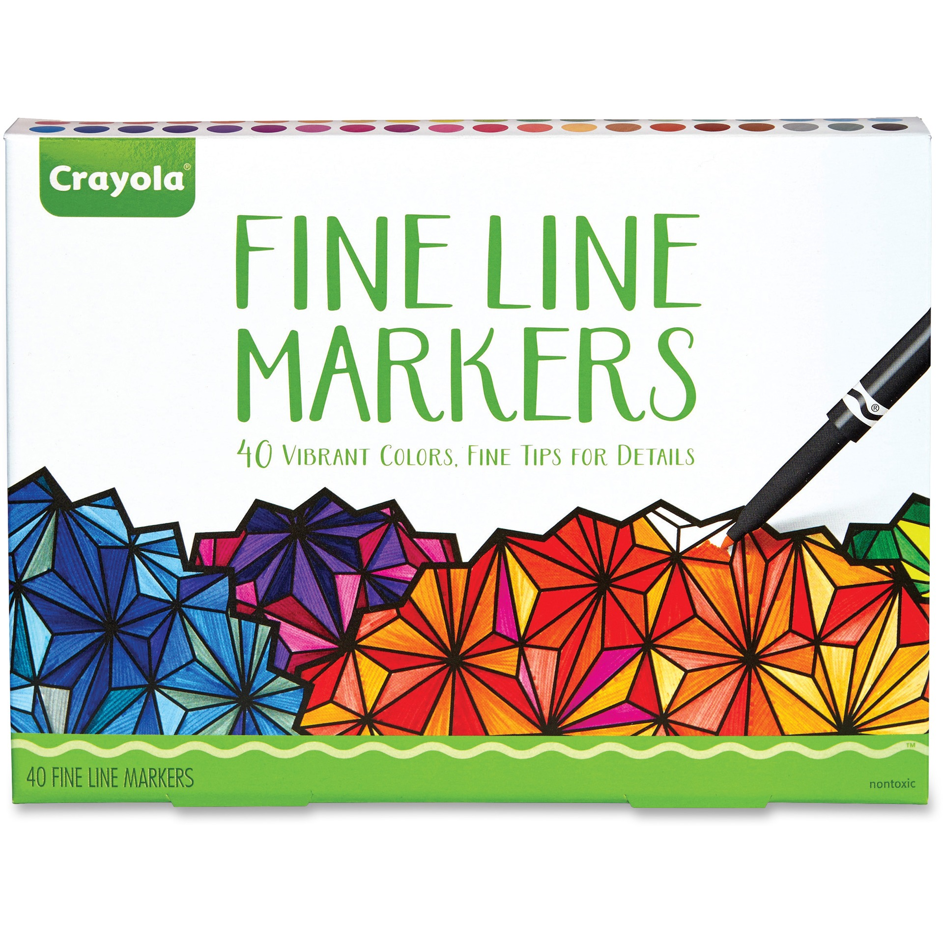 Crayola 40-Count Adult Coloring Fineline Markers, 40 Colors by Crayola, LLC