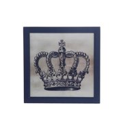 Privilege 88719 18 x 1.5 x 18 in. Crown Wall Decor - II, Gray