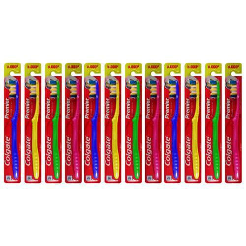 12 Pack Colgate Premier Classic Clean Deep Dental Cleanse Manual Toothbrush
