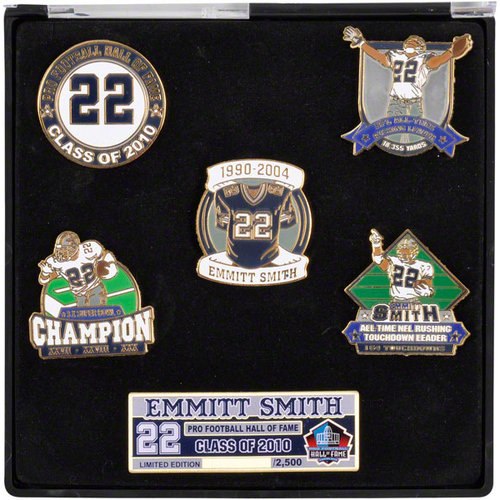 NFL - Emmitt Smith Dallas Cowboys Hall of Fame 5 Pin Set - Limited Edition of 500