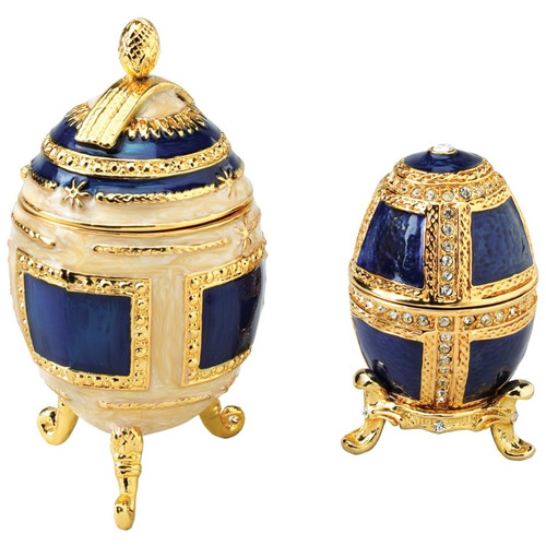 Design Toscano 2 Piece Petyr and Anya Collectible Egg Decorative Urn