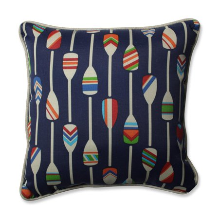 """4040"""" Blue And Red Oars Away Decorative Outdoor Corded Throw Pillows Amazing Decorative Cording For Pillows"""