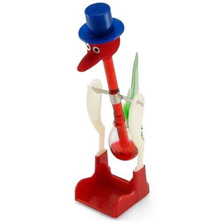 New Drinking Water Bird Novelty Happy Duck Bobbing Toy Retro Glass Desktop - Toy Glasses