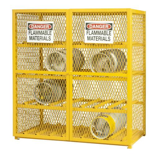 Durham Manufacturing 71.75'' H x 60'' W x 30'' D Steel and Iron Horizontal Cylinder Storage Cabinet