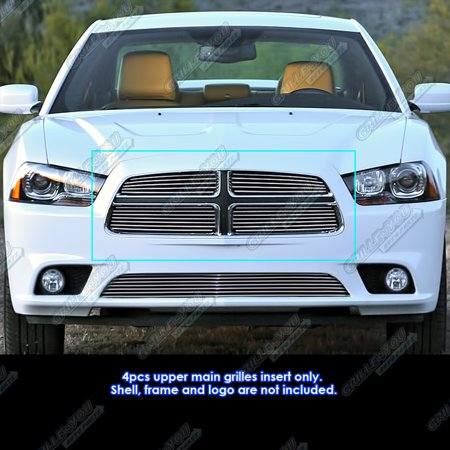 fits 2011 2014 dodge charger main upper billet grille. Black Bedroom Furniture Sets. Home Design Ideas