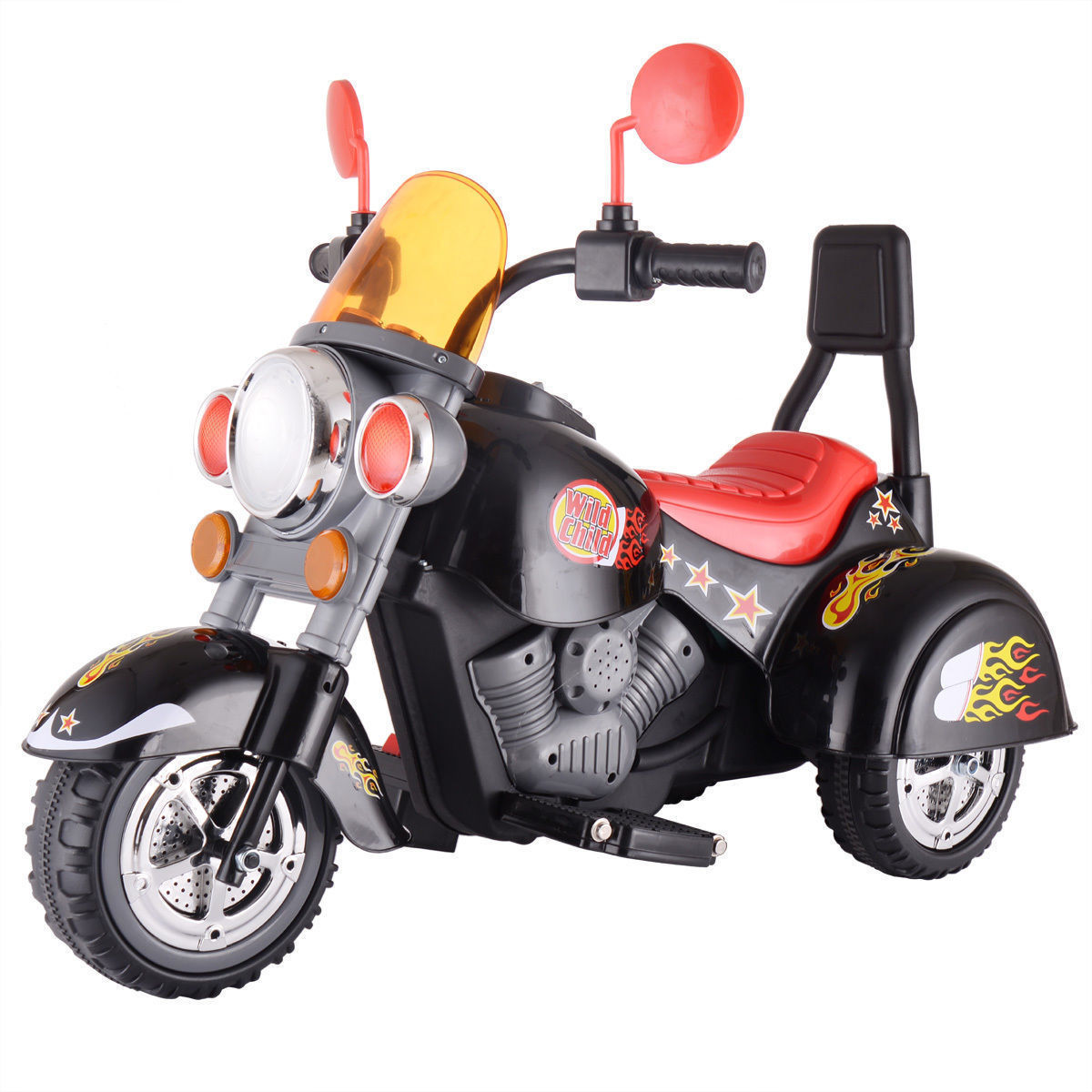 3 Wheel Harley Style Kids Ride On Motorcycle 6V Battery Powered Electric Toy by