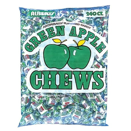 - ALBERT'S CHEWS APPLE 240 PIECE BAG