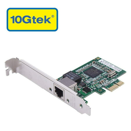 10Gtek for Broadcom BCM5751 Chip 1G Gigabit Ethernet PCIE Converged Network Adapter(NIC), Single Copper RJ45 Port, PCI Express X1, Same as BCM5751-T1