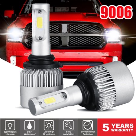 GTP 9006 HB4 LED Headlight Bulbs 6000K White 8000LM Light Conversion Kit - Low Beam / Fog Light ()