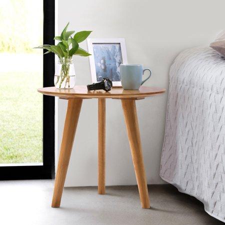 Bamboo Coffee Table (Knifun Bamboo Round End Table Sofa Side Table, Wooden Coffee Tea Table, Sofa Side Table, Round Tea Table)