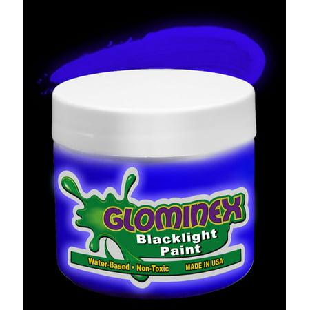 Glominex Blacklight UV Reactive Paint Pint - Blue