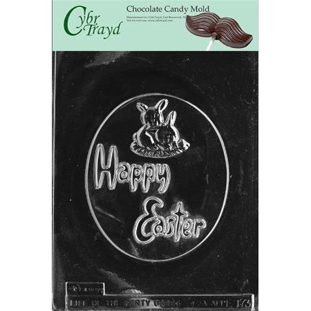 Large Oval Jet (Cybrtrayd Life of the Party E173 Oval Happy Easter Chocolate Candy Mold in Sealed Protective Poly Bag Imprinted with Copyrighted Cybrtrayd Molding Instructions, Large )