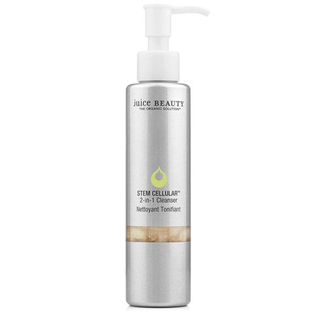 Stem Cellular 2-in-1 Cleanser - Gentle Hydrating Face Wash, Daily Facial Cleansing and Makeup Removal - Vegan, Made with Organic Ingredients (4.5 Fl Oz)