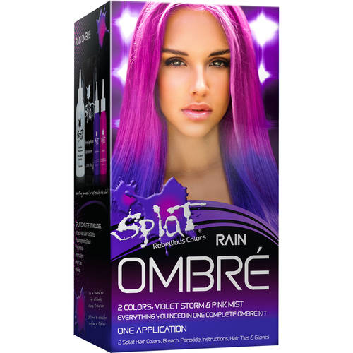 Splat 30 Wash Semi-Permanent Hair Dye Kit Ombre Rain