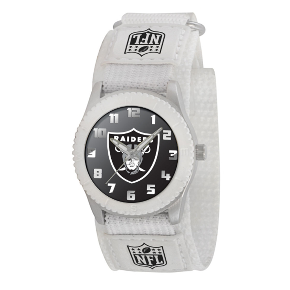 "Oakland Raiders NFL Kids ""Rookie Series"" Watch (White)"