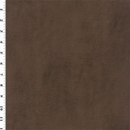 Faux Leather - Antique Walnut Brown, Fabric By the Yard