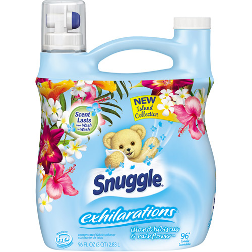 Snuggle Exhilarations Island Hibiscus & Rainflower Concentrated Fabric Softener, 96 fl oz