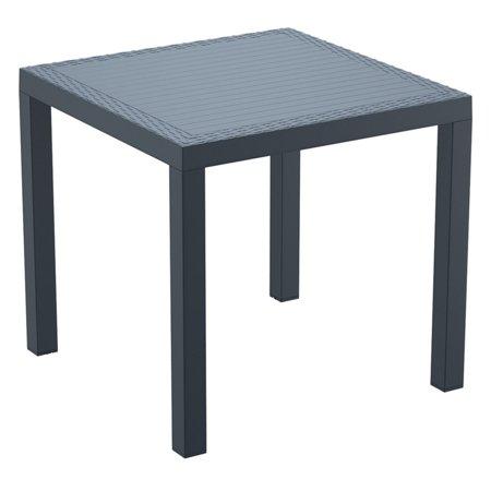 - Siesta Orlando Resin Wicker Square Patio Dining Table - Walmart.com