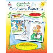 Growing in Grace Children's Bulletins, Ages 3 - 6 : 52 Worship Bulletins for Church