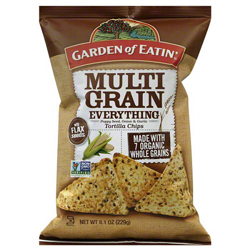 Garden of Eatin' Multi Grain Everything Tortilla Chips, 8.1 oz (Pack of 12)
