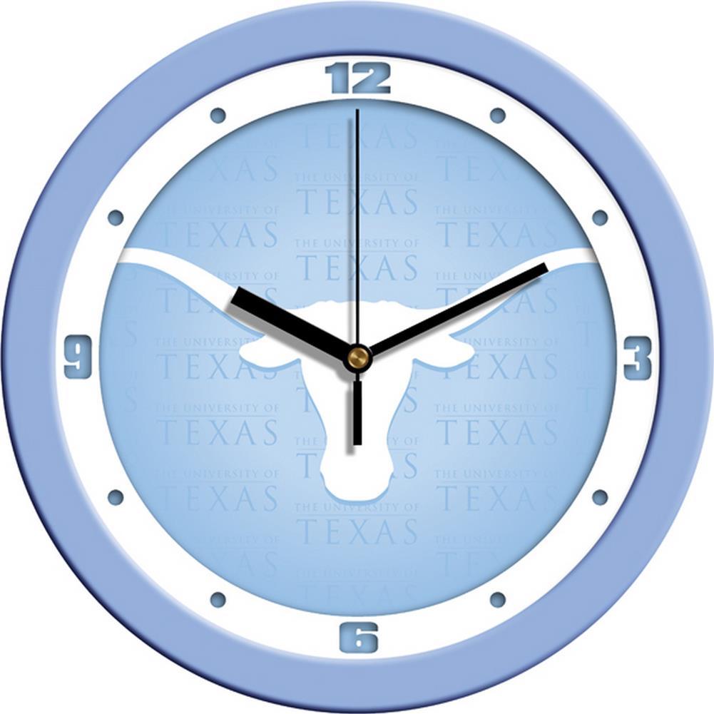 University of Texas Longhorns Glass Wall Clock