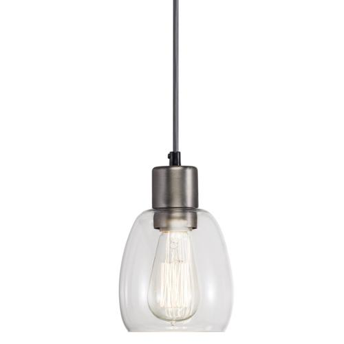 Aztec Lighting Transitional 1-light Antique Pewter Mini Pendant